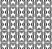 Черным по белому шарик 3 сформировал предпосылку повторения китайской картины фонарика безшовную иллюстрация вектора