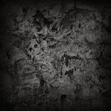 Черным по белому старая стена гипсолита как grungy предпосылка Стоковая Фотография
