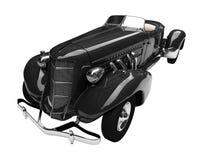 черным ретро автомобиля изолированное фронтом Стоковое фото RF