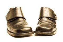 черным старая изолированная ботинком Стоковые Изображения RF