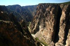 черным стена покрашенная каньоном Стоковая Фотография RF