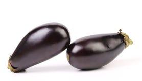 2 черных баклажана изолированного на белизне Стоковое Изображение RF