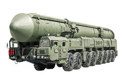 Чернь межконтинентальной баллистической ракеты Стоковые Фотографии RF
