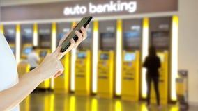 Чернь пользы коммерсантки цифровая на ATM Стоковые Изображения
