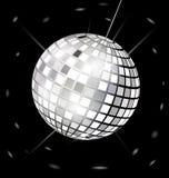 черн-белый шарик диско Стоковое Фото
