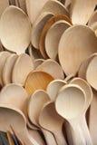 черпает деревянное ложкой Стоковые Изображения RF