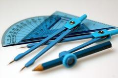 чертегные инструменты Стоковое Изображение RF