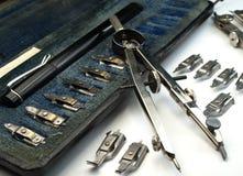 чертегные инструменты Стоковые Изображения RF