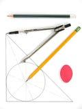 чертегные инструменты Стоковые Изображения