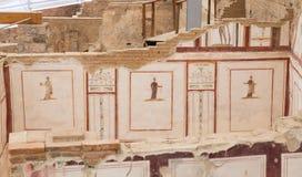 Чертежи в домах террасы, древнем городе Ephesus Стоковые Фото