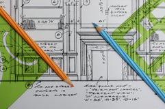 чертежи конструкции нутряные Стоковые Фотографии RF