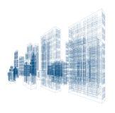 Чертежи небоскребов и домов иллюстрация вектора