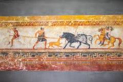Чертежи стены древние люди Стоковое Изображение RF