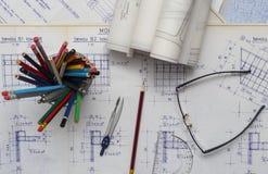 чертежи технические стоковые фотографии rf
