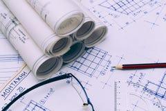 чертежи технические стоковая фотография rf