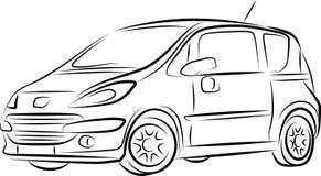 чертеж автомобиля Стоковое Изображение RF