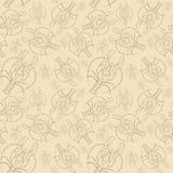 Чертеж акварели безшовной картины на морской теме и на знаке зодиака, раке, омаре, раке реки, морских звёздах, detai Стоковое Изображение RF