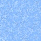 Чертеж акварели безшовной картины на морской теме и на знаке зодиака, раке, омаре, раке реки, морских звёздах, detai Стоковые Фотографии RF