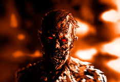 Чертеж бизнесмена зомби Иллюстрация на теме ужаса Стоковые Изображения
