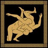 Чертеж вектора греческий иллюстрация вектора
