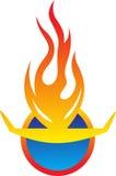 Икона пожара Стоковые Фото