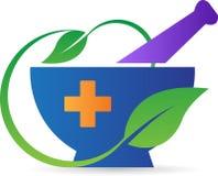Миномет и пестик фармации Стоковое Изображение RF
