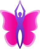 Логос бабочки Стоковые Изображения