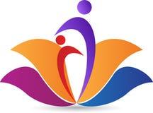 Логос лотоса Стоковые Фото