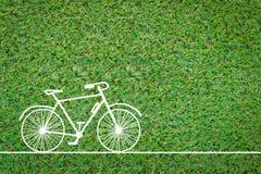 Чертеж велосипеда на поле травы jpg Стоковые Изображения