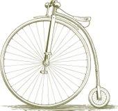 Чертеж велосипеда Woodcut винтажный Стоковое фото RF
