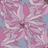 чертеж вручает ее нижнее белье утра вверх по теплым детенышам женщины Vector безшовная картина с розовыми цветками для дизайна Стоковое Изображение