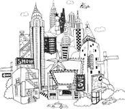 Чертеж города Стоковое Изображение RF