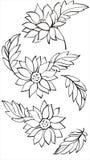 Чертеж детали цветков. иллюстрация вектора
