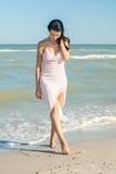 Чертеж девушки в песке Стоковая Фотография