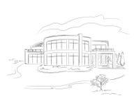 чертеж здания Стоковое Фото