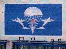 Чертеж значка Graffity 2 самолетов и парашютов с Советом Стоковые Изображения RF