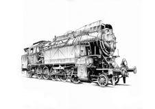 Чертеж дизайна искусства парового двигателя бесплатная иллюстрация