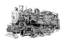 Чертеж дизайна искусства парового двигателя иллюстрация вектора