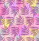 Чертеж листьев папоротника иллюстрация штока