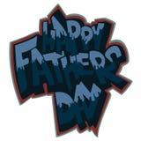 Чертеж литерности текста вектора дня отцов в стиле граффити стоковое фото rf