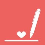 Чертеж или сочинительство шариковой ручки Стоковое Фото