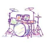 Чертеж карандаша барабанчика бесплатная иллюстрация
