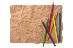 Чертеж карандаша на бумаге Стоковые Фото