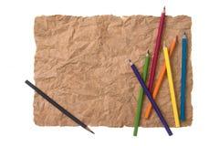 Чертеж карандаша на бумаге Стоковые Фотографии RF