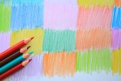 Чертеж карандаша цвета Стоковое Изображение