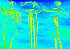 Чертеж, каллиграфия Стоковая Фотография RF