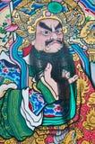 Чертеж китайского бога на двери Стоковая Фотография