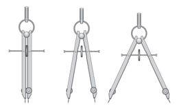 чертеж компаса Стоковое Изображение RF