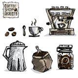 Чертеж кофе возражает a Стоковое Фото