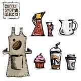 Чертеж кофе возражает b Стоковое фото RF